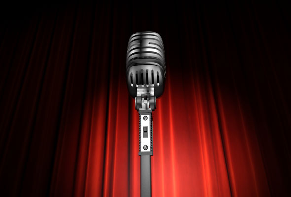 microphone-and-red-curtain