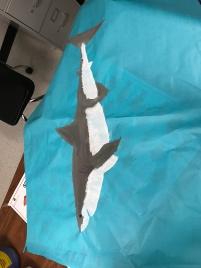 Hand-painted shark.